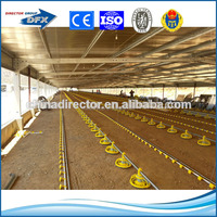 corrugated panel or sandwich panel or metal net wall light steel structure prefab broiler chicken house