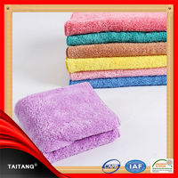 High quality satin border microfiber 100% cotton hair dry towel
