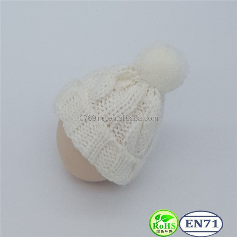 Doll Wearing Cute Knitted Cap and Knitted Scarf Decoration Toy Knitted Hat and Knitted Scarf