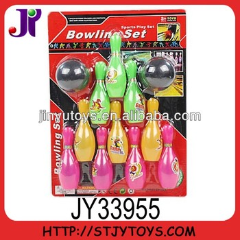 Mini plastic bowling balls toy for kids
