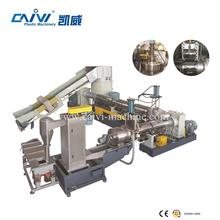 Recycled cleaned PP/PE plastic film bag double stage pelletizing machine line