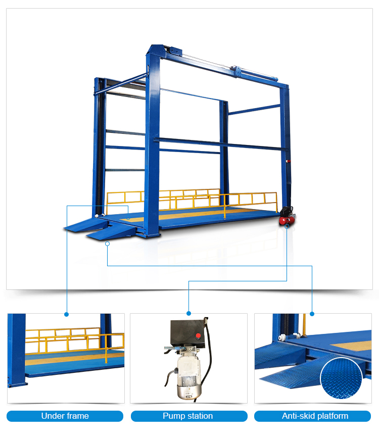 CE/ISO9001 approved guide rail chain warehouse hydraulic cargo lift price