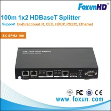 HOT! HDBASET SX-SPH2-100 1 in 2 out CEC Ethernet RS232 and 3D HDBaseT HDMI Splitter