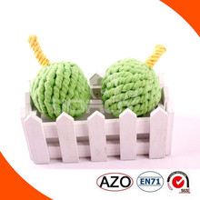 sweety apple cotton and jute pet toys