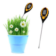 4 In 1 Digital Moisture Temperature Sunlight PH Garden Soil Tester Meter
