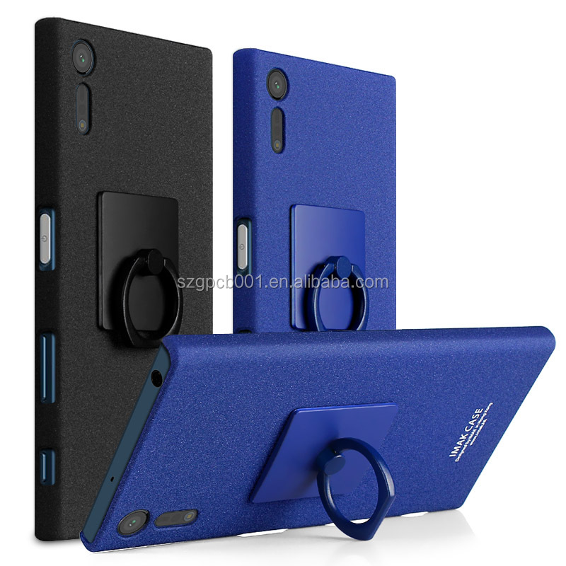 Newest ORIGINAL IMAK COWBOY SANTSTONE MATTE CASE + 360 RING STAND shockproof + Lcd guard COMBO FOR SONY XPERIA XZ