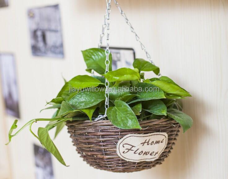 100 la main mur en osier de plante suspendue panier en. Black Bedroom Furniture Sets. Home Design Ideas