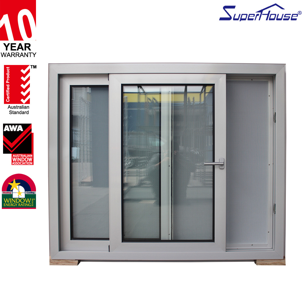 Australia Standard AS2047 aluminium window with double glass