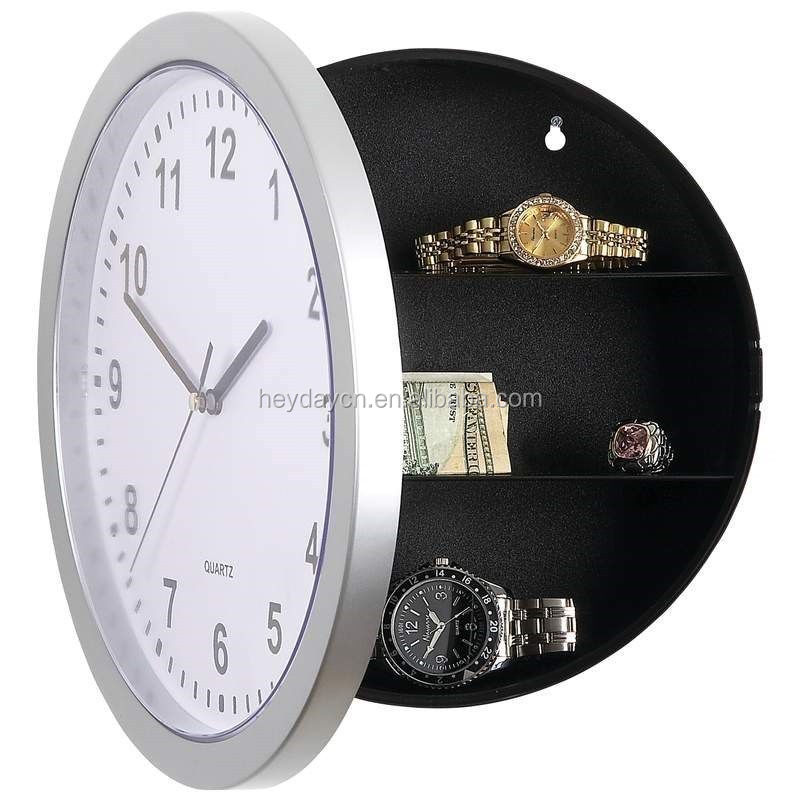 hidden safe clock with hidden compartments secret stash jewellery money(HD-2002)