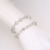 Xuping hot sale fashion white zircon women tennis bracelets square charm bangle 925 sliver color jewelry