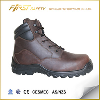 FS1316, Crazy horse leather Desma injection steel toe safety boots