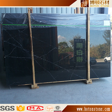 chinese stone guangxi black Black Marquina marble tile with white veins