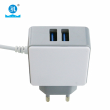 5V 2.4A Micro Mobile phone Home Charger 2 USB Port Home Charger with Android Data Line