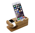 BRG 2 in 1 bamboo charging stand for apple watch for iPhone Stand charger