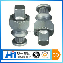 cnc machining custom steel with zinc plated wheel hub bolt,truck wheel bolt