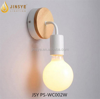 Glass corridor bedroom modern wall lamp light sconce wood wall lamp