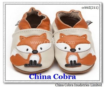 20107 hot sale design high quality soft sole leather baby shoes CHINA COBRA baby shoes leather moccasin shoes