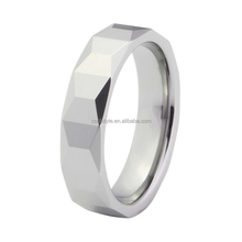 6mm faceted tungsten rings wedding bands