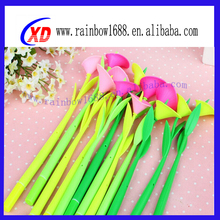 Multicolor Kids Silicone Pen Novelty Promotional Flower Pen