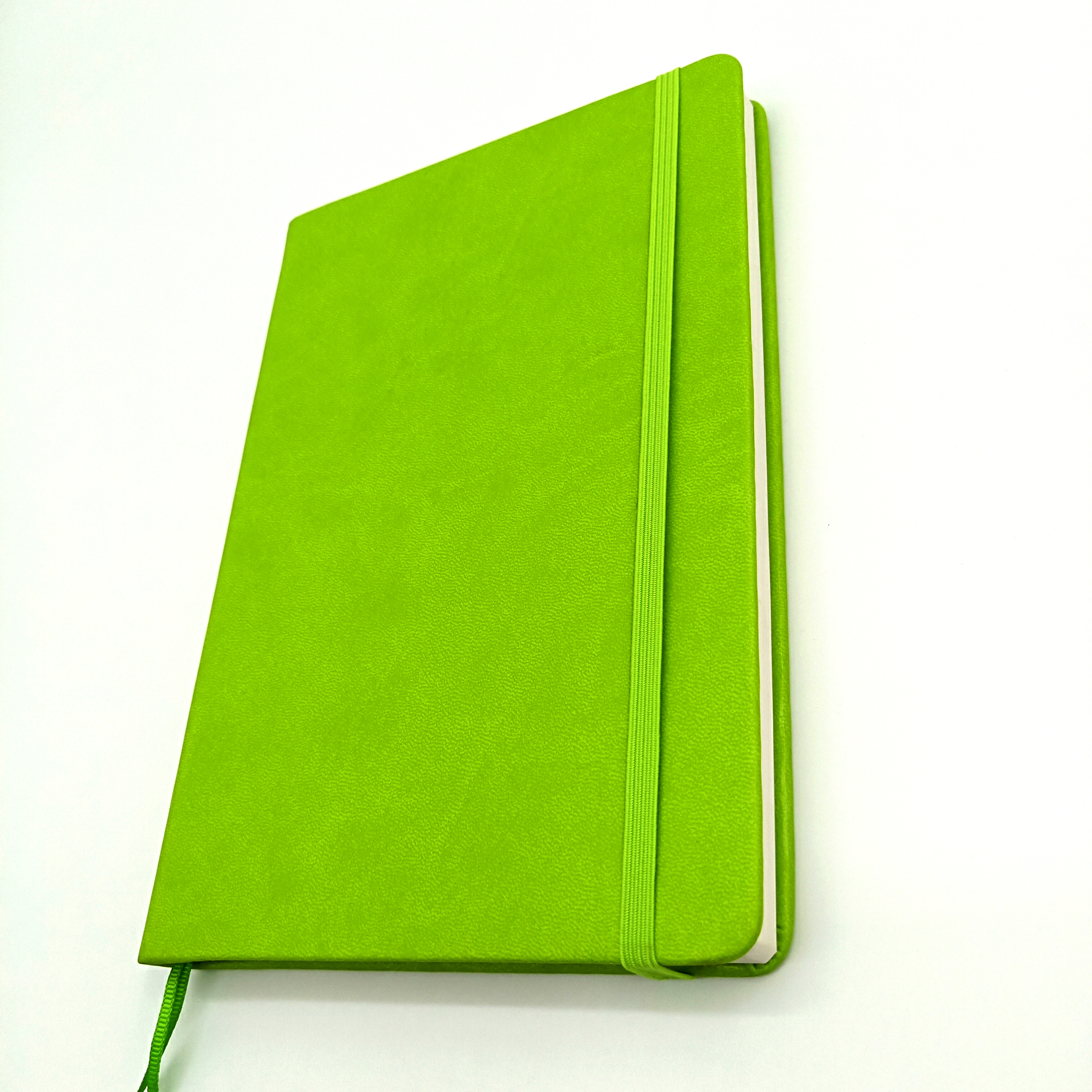 eco friendly green cheap leather journal/ letterpress journal/goal setting journal