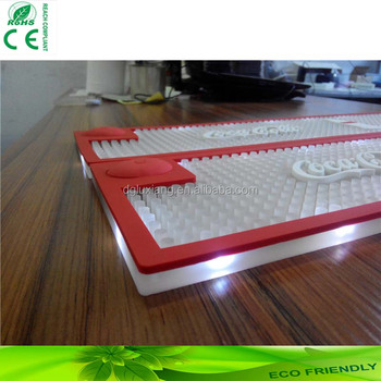 high quality LED light up beer mat bar counter mat, PVC led bar mat