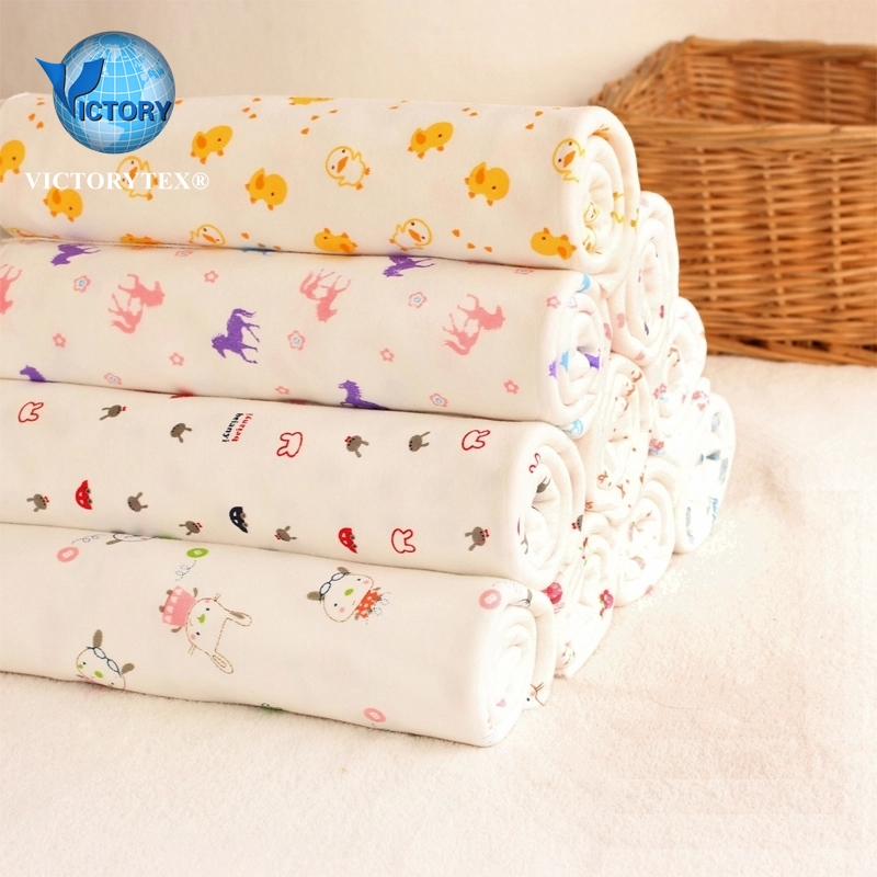 100% Cotton Printed Interlock Wholesale Baby Fabric for Clothes Garment or T shirt
