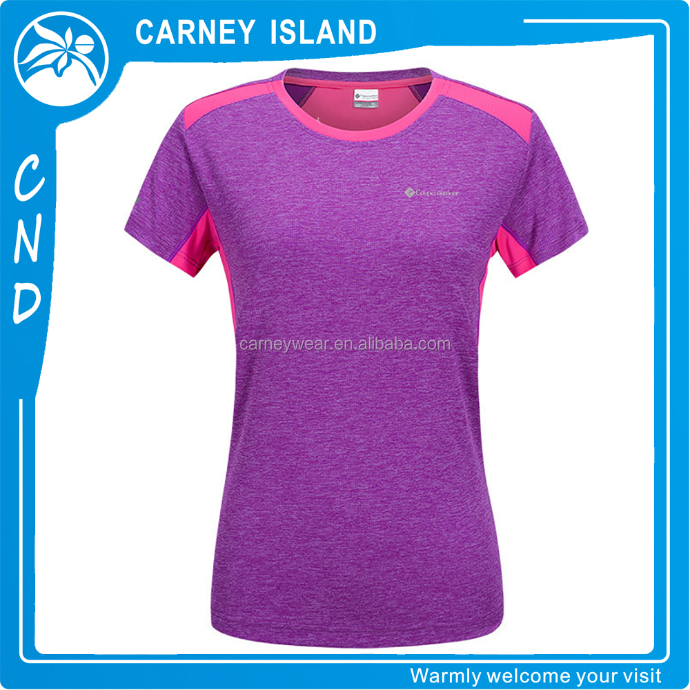 Slim Tight stretch Fitness Women Short Sleeve Tops Gym Active Sport dry fit t shirt