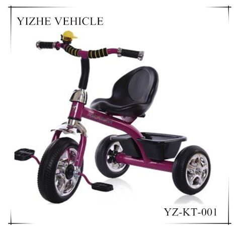 Beautiful cute little kids tricycle plastic three wheels balance child bike