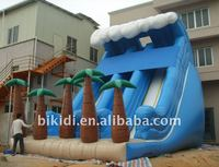 Palm Tree inflatable slide, water slide B4032