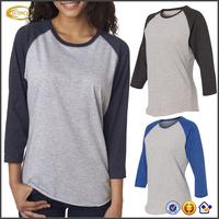 Ecoach 2016 Long Sleeve 100% Cotton Ladies Sportswear Jersey Women's T-shirts