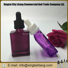 cosmetic red purple colour man perfume empty glass bottle