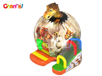 2016 Channal Original Design Dinosaur Egg Inflatable Playround Bouncers with Slide