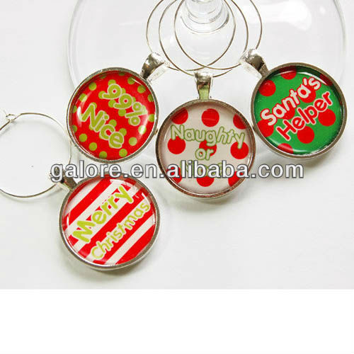 fashion hot sale custom made wine metal charms