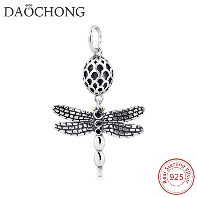 Beautiful Design Fashionable Dragonfly Silver Animal Charm Pendant