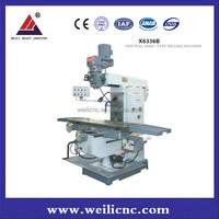 China made Universal drilling milling machine and turret milling machine with DRO