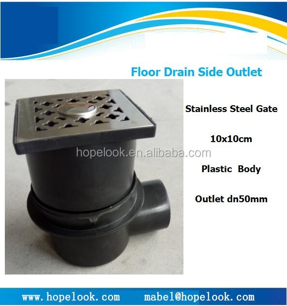 Side outlet draiange plastic floor drains Single Channel