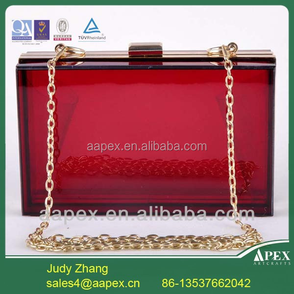 Apex OEM Personalized clear acrylic clutch bag