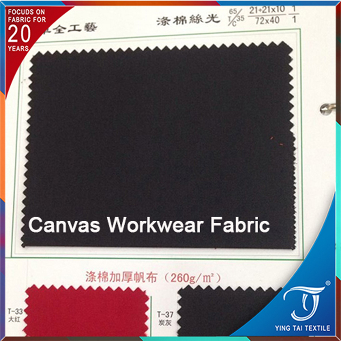 100% cotton canvas twill fabric for workerwear