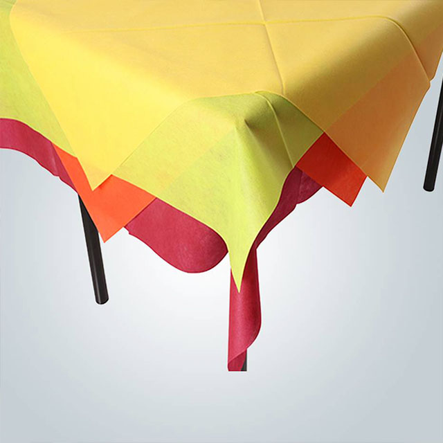 spunbond polypropylene nonwoven fabric ,multi-colored tablecloths table cloth roll