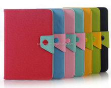 2014 Newest Design Contrast Color Leather Case for Ipad mini