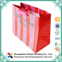 2015 Luxury laminationed gift bags customized printing tiny paper bag