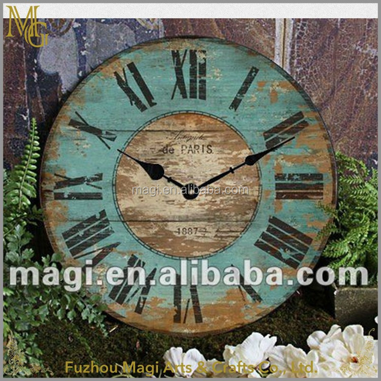 European country style rustic decorative wall clock