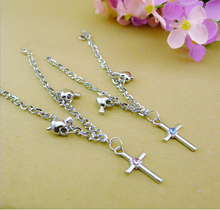 2016 trends bracelets jewelry fashion silver plated crystal crosses for to make bracelets