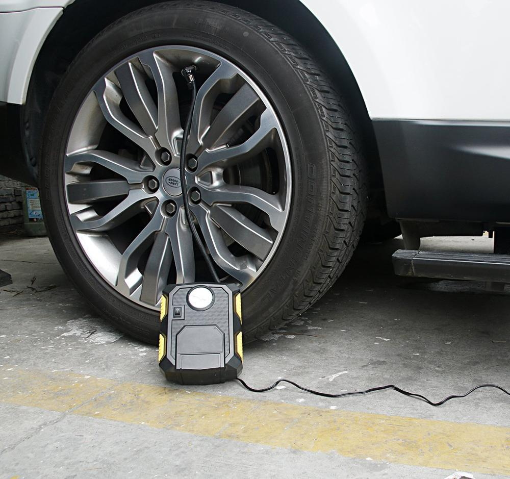Auto Tire Inflator Pump with Led Light