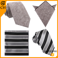 Newest Fashion Stripe Design father and son tie and pocket square