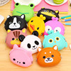 CheaWholesale cute silicone coins purse pouch bag wallets case;Silicone coin bag