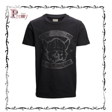 Custom comfortable digital printing combed cotton tshirts with short sleeve for charming men