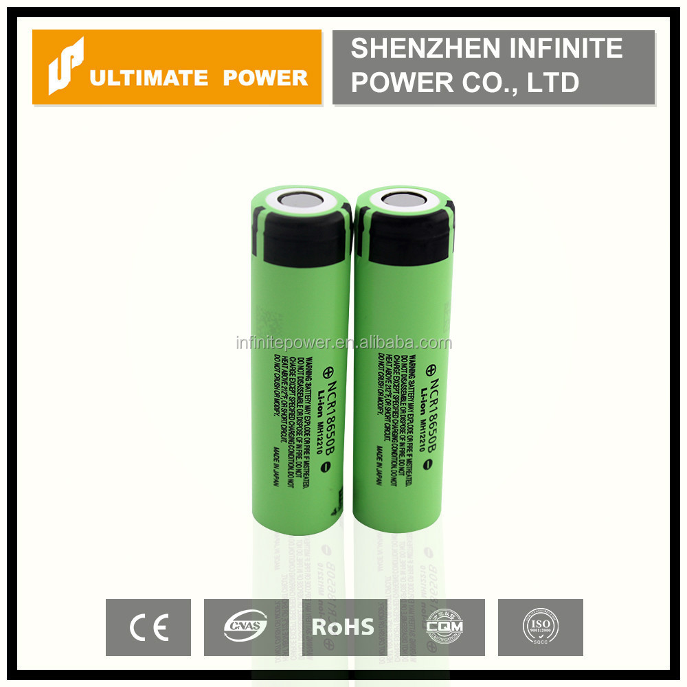 Hot sale!!! Genuine high capacity 3400mah panasonic ncr18650b 3.6v li-ion cell for panasonic 18650 battery