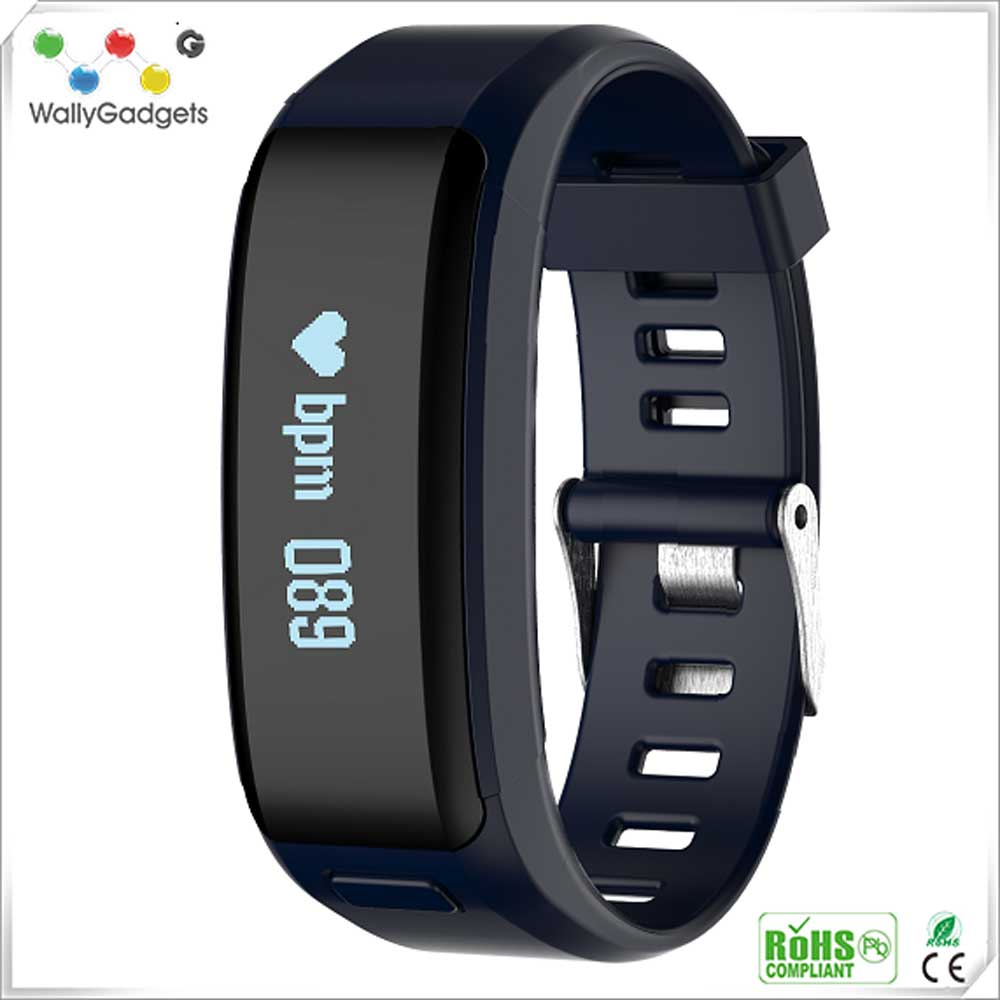 China Manufacturer Low Price Sports Health Multiple Functions Smart Bracelet Heart Rate Monitor