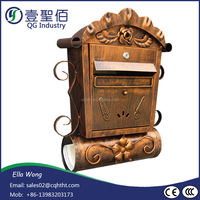 China freestanding aluminium cast iron waterproof post box